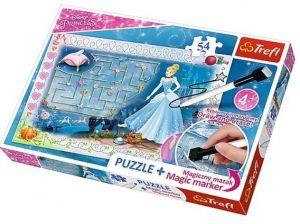 TREFL Puzzle s magickým fixem 75112 Disney princezny - Popelka   54 dílků