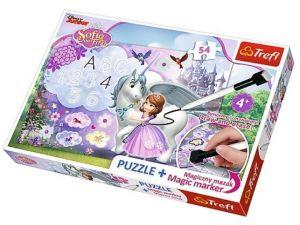 TREFL Puzzle s magickým fixem 75113 Sofie První 54 dílků