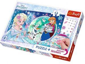 TREFL Puzzle se samolepkami 75115 Ledové království  54 dílků