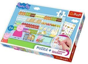 TREFL Puzzle se samolepkami 75117 Prasátko Peppa 35 dílků  75117