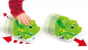 Clementoni - zábavné zvířátko na pull-back - hroch