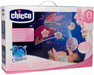 Chicco Kolotoč nad postýlku s projektorem hvězdiček - růžový
