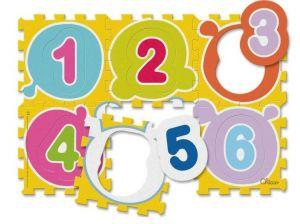 Chicco Puzzle koberec - čísla 6 dílů