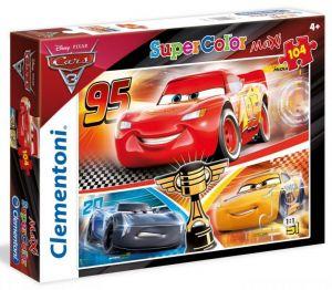 Clementoni puzzle 104 dílků MAXI - CARS  3   23706