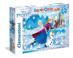 Clementoni puzzle 104 dílků MAXI - Frozen - Ledové království   23701