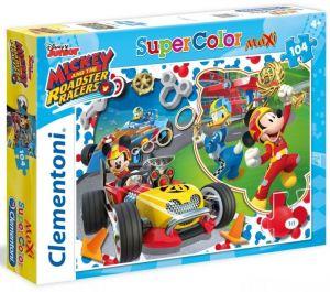 Clementoni puzzle 104 dílků MAXI - Mickey Mouse - Závodníci   23709