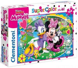 Clementoni puzzle 104 dílků MAXI - Minnie Mouse - Šťastní pomocníci   23708