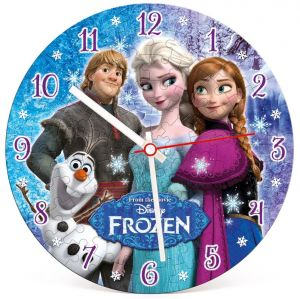 CLEMENTONI Puzzle hodiny Ledové království 96 dílků  23021