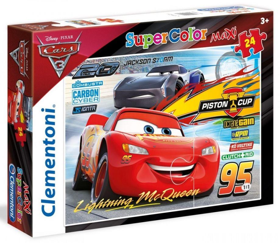 Clementoni puzzle MAXI 24 dílků Auta Cars 3 24489