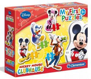 Clementoni Puzzle pro nejmenší - My first  4v1  - Mickey Mouse  20803