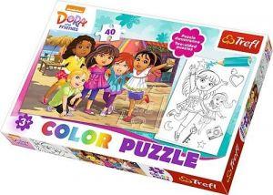 Color puzzle 40 dílků - Dora    36512