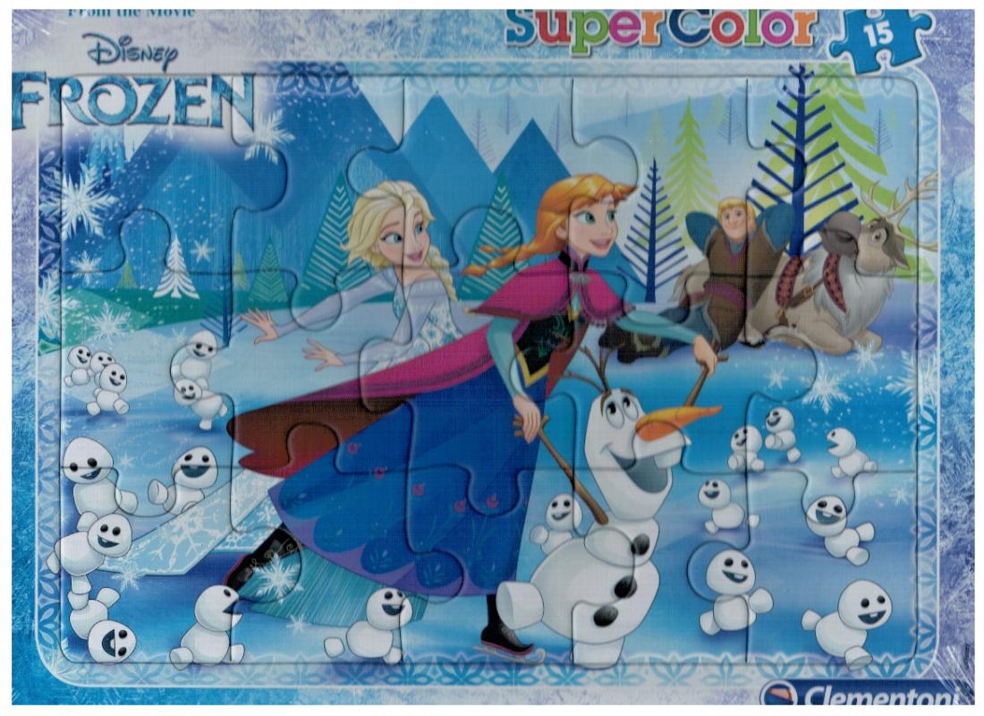 Deskové puzzle Clementoni - 15 dílků - Frozen - 22226a