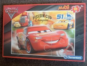 Podlahové puzzle Clementoni 30  dílků MAXI  - CARS 3    07438