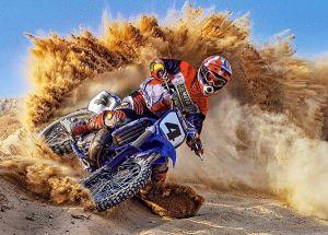 Puzzle Castorland 260 dílků - motocyklista - rychle a v prachu 27460