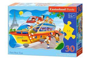 puzzle Castorland  30 dílků  - Výlet lodí po Paříži - 03624