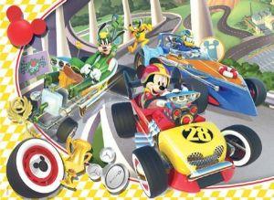 Puzzle Clementoni 100 dílků - Mickey Mouse - Závodníci  - 07258