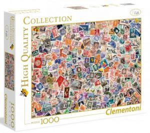 Puzzle Clementoni 1000 dílků - Nekonečné poštovní známky    39387