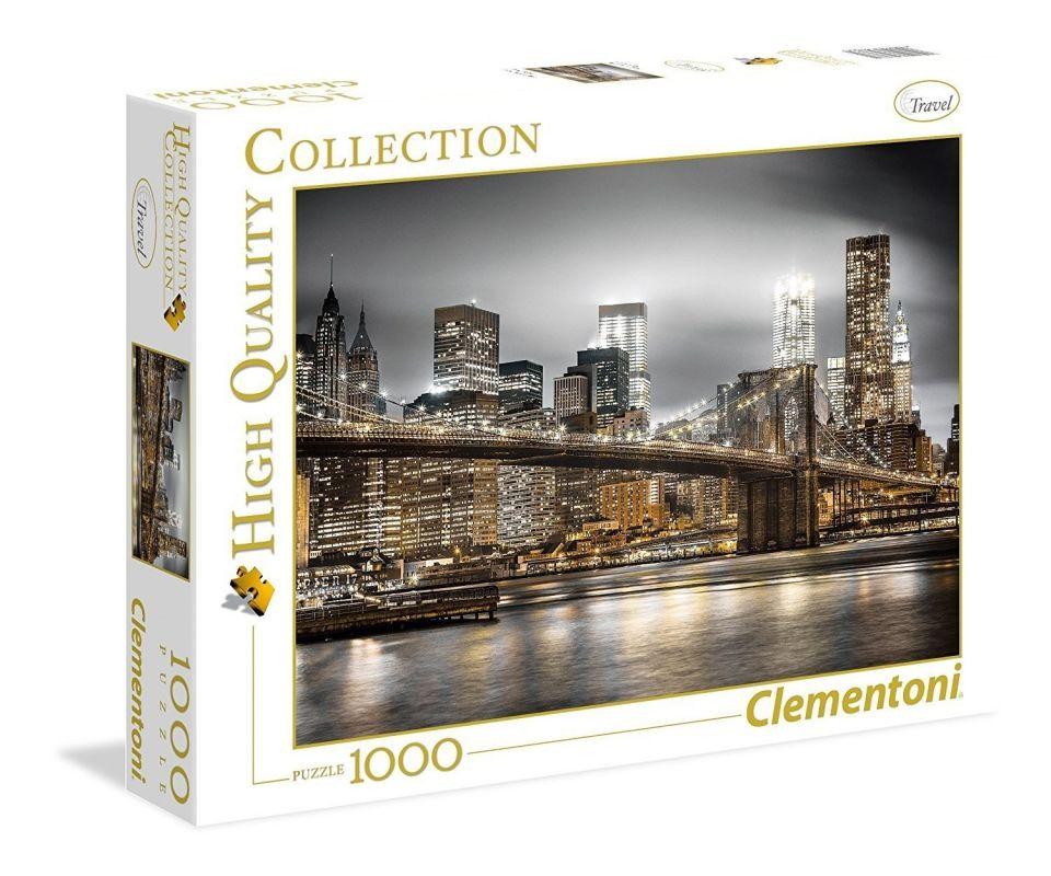 Puzzle Clementoni 1000 dílků - New York - silueta 39366
