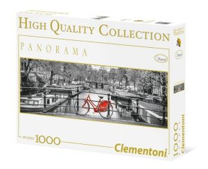 Puzzle Clementoni 1000 dílků  panorama - Amsterdam   39386