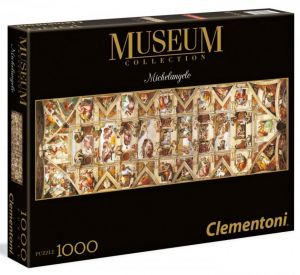 Puzzle Clementoni 1000 dílků  panorama - Michelangelo -  Strop Sixtínské kaple     39406