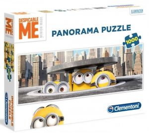 Puzzle Clementoni 1000 dílků  panorama - Mimoni v New Yorku    39373
