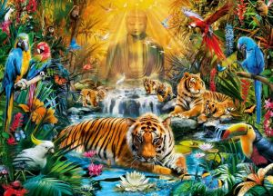 Puzzle Clementoni 1000 dílků - Tygři 39380