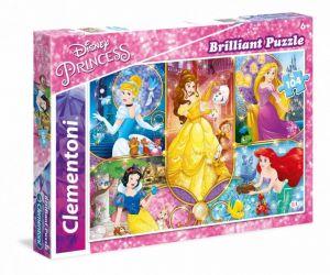 Puzzle Clementoni  - 104 dílků  Briliant  - Princezny  20140