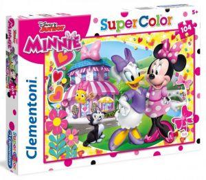 Puzzle Clementoni 104 dílků  -  Minnie Mouse - Šťastní pomocníci   27982