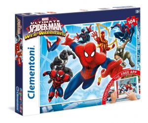 Puzzle Clementoni - 104 dílkú  s aplikací -  Spiderman  20704