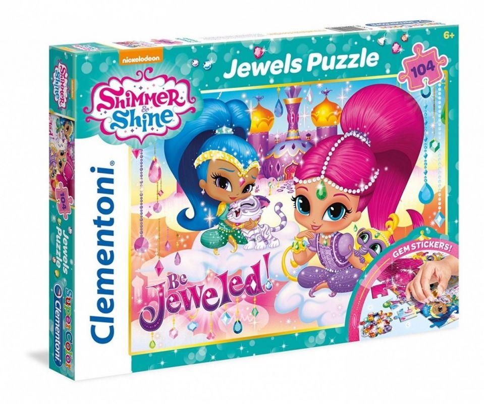 Puzzle Clementoni - 104 dílků jewels Shimmer & Shine 20143