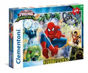 Puzzle Clementoni 104 dílků  - Svítící ve tmě  Spiderman 27992