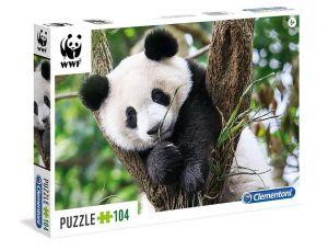Puzzle Clementoni 104 dílků  - WWF - Roztomilá panda   27997