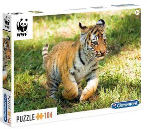 Puzzle Clementoni 104 dílků  - WWF - Tygří mládě   27998