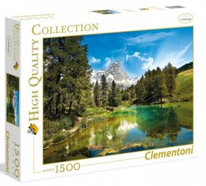 Puzzle Clementoni 1500 dílků  - Modré jezero  31680