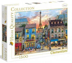 Puzzle Clementoni 1500 dílků  - Ulice v Paříži   31679