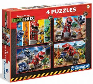 Puzzle Clementoni 2 x 20  a  2 x 60 dílků   Dinotrux   07612