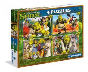 Puzzle Clementoni 2 x 20  a  2 x 60 dílků   Shrek   07609
