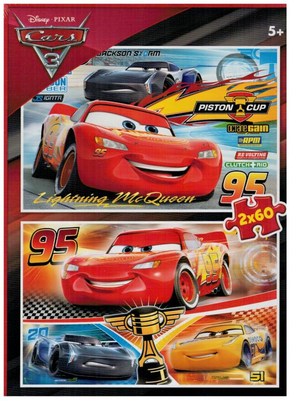 Puzzle Clementoni 2 x 60 dílků - CARS 3 07131