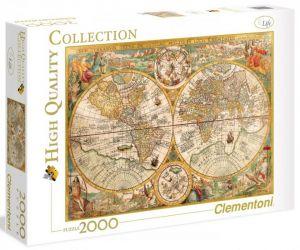 Puzzle Clementoni 2000 dílků - Starodávná mapa  32557