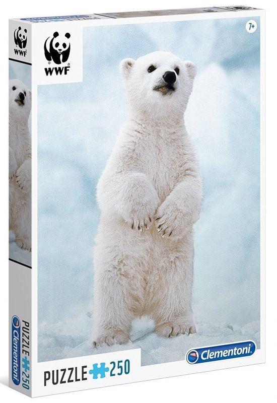 Puzzle Clementoni 250 dílků - WWF - Baby polární medvěd 29744