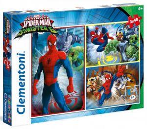 Puzzle Clementoni  - 3 x 48 dílků  - Spiderman    25217