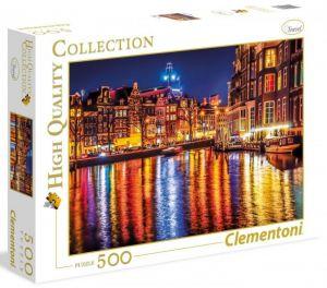Puzzle  CLEMENTONI  500 dílků  Amsterdam  35037