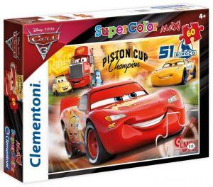 Puzzle Clementoni 60 dílků MAXI   -  CARS 3    26424