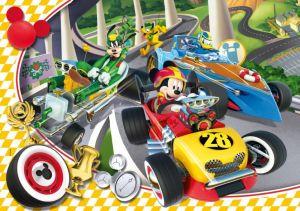 Puzzle Clementoni 60 dílků - Mickey Mouse - závodníci 26976