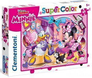 Puzzle Clementoni 60 dílků  -  Minnie Mouse - Šťastní pomocníci  26975
