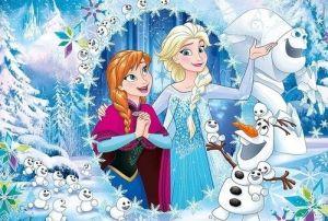 Puzzle Clementoni  MAXI  - 100 dílků  -  Frozen  07531