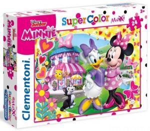 Puzzle Clementoni  MAXI  - 24 dílků  -  Minnie Mouse - Šťastní pomocníci   24480