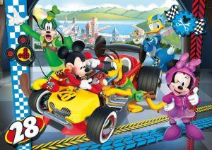 Puzzle Clementoni MAXI - 24 dílků - Minnie Mouse - Závodníci 24481