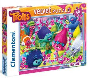 Puzzle Clementoni  Velvet 60 dílků  -  Trolové   20138