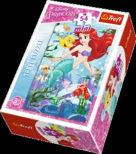 Puzzle mini 54 d - Trefl - Princezny  19537 Ariel